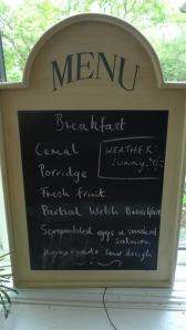 Danyfan Breakfast Menu