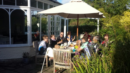 Lunch on a sunny Brecon afternoon