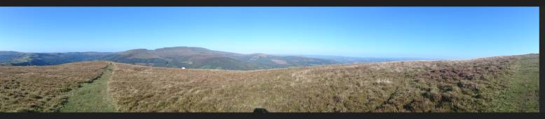 Panorama from the hill above Llangynidr